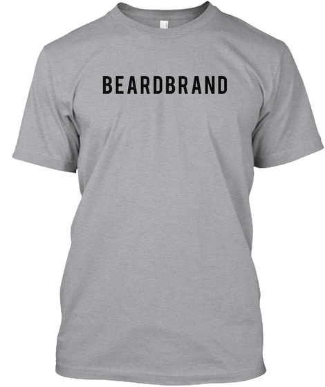 Beardbrand Heather Grey T-Shirt Front