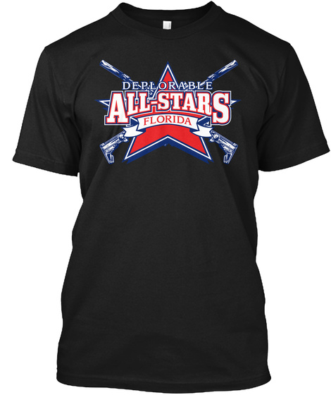 Deplorable All Stars   Florida Black T-Shirt Front