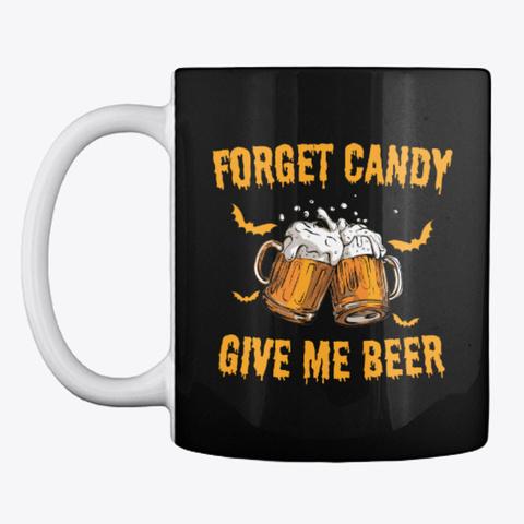 Beer Halloween Mug Black Mug Front