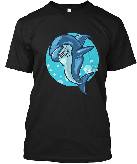 Dabbing Shark T Shirt Black T-Shirt Front