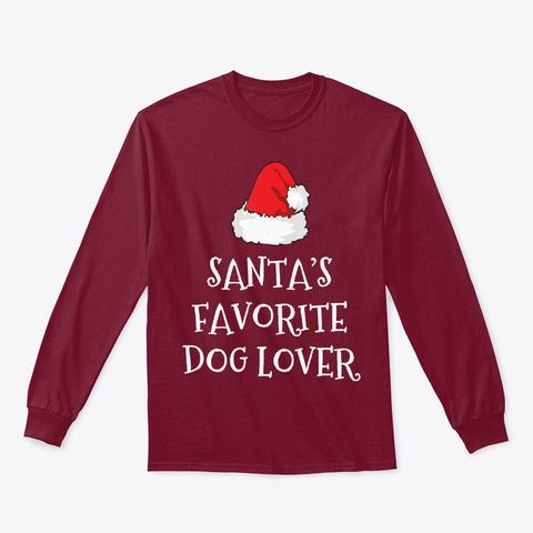 Santa's Favorite Dog Lover Christmas Cardinal Red T-Shirt Front