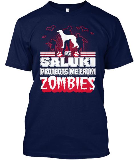 Saluki Navy T-Shirt Front