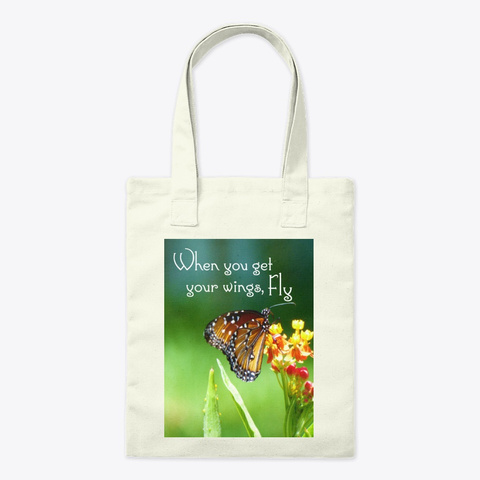 Butterfly Flight Tote Natural T-Shirt Front