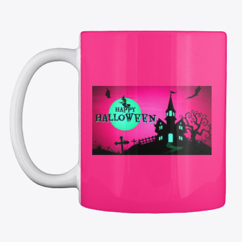 Halloween Mug, A Little Witch In All Us Hot Pink Mug Front