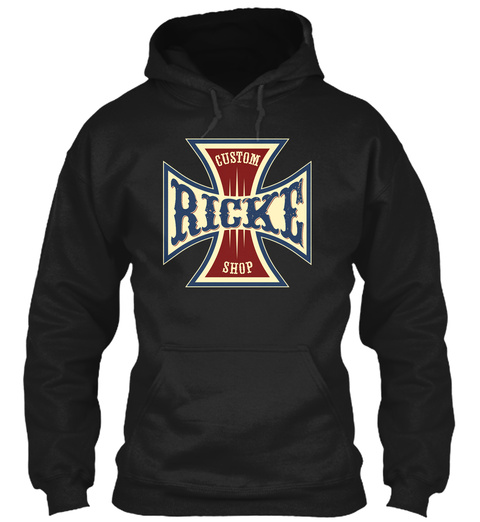 Ricke Custom Shop Black T-Shirt Front