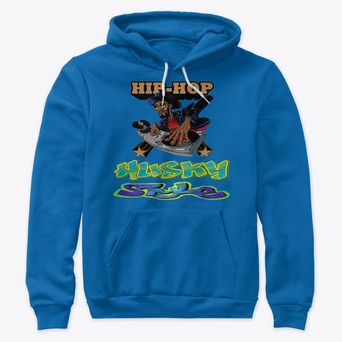 Husky Style Hoodiez And Accessories True Royal T-Shirt Front