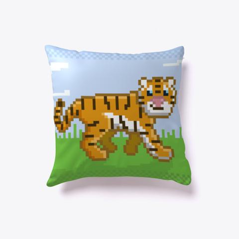 Pixel Tiger Deep Navy T-Shirt Front