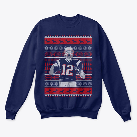 Goat Christmas Sweater Navy  Sweatshirt Front