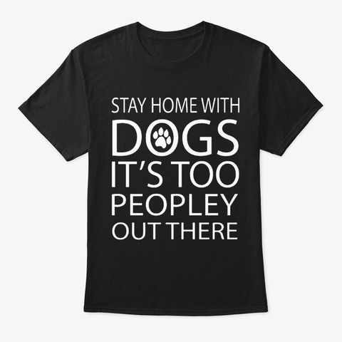 Dogs Black T-Shirt Front