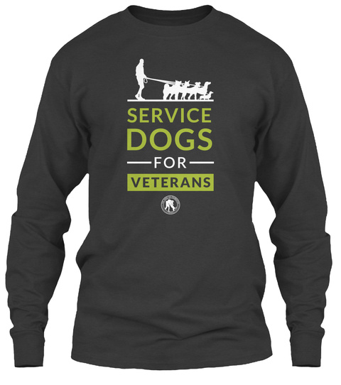 Service Dogs For Veterans Dark Heather T-Shirt Front