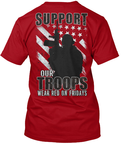 Red Friday T Shirts Deep Red T-Shirt Back