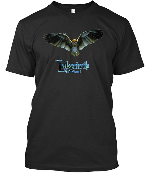 Labyrinth Black T-Shirt Front