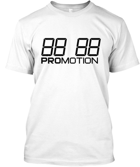 """Promotion Tee """"Square One"""" White T-Shirt Front"""
