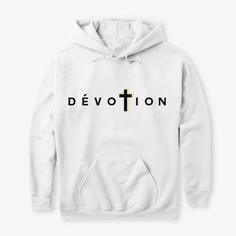 Logo Dévotion Original Noir  White T-Shirt Front