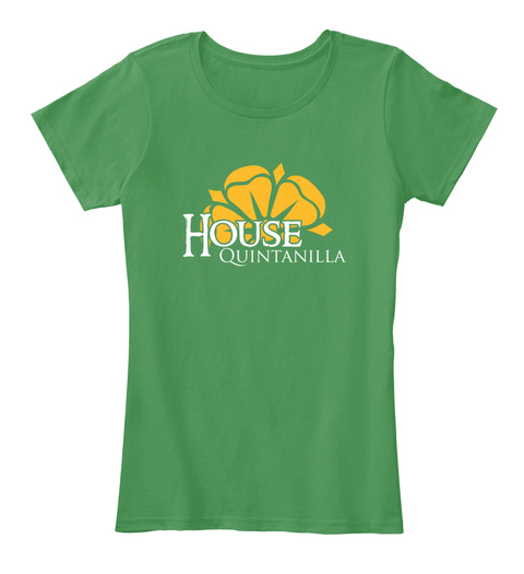 Quintanilla Family House   Flower Kelly Green  T-Shirt Front