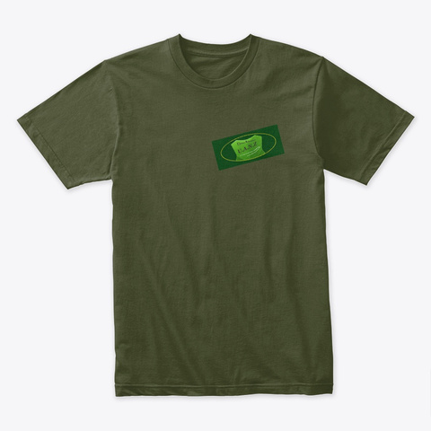 Brand Military Green T-Shirt Front