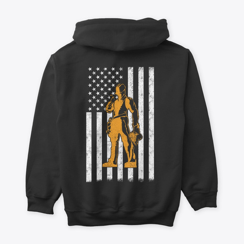 Job Roofer The Usa Shirts Hoodies Black T-Shirt Back