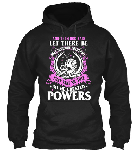 Let There Be Powers  Black T-Shirt Front