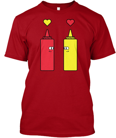 Ketchup And Mustard Deep Red T-Shirt Front