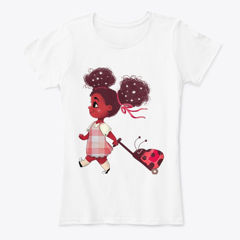 Go To School With Black Kid Girl Apparel White T-Shirt Front