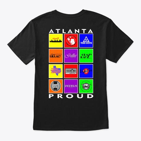 Atlanta Proud Black T-Shirt Back