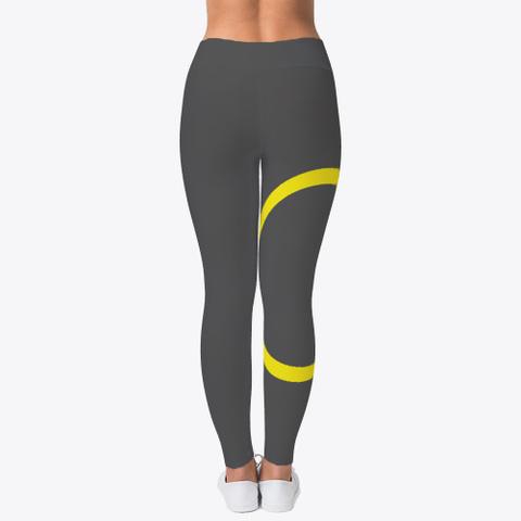 Womans Cx Gold Yoga Pants  Charcoal T-Shirt Back