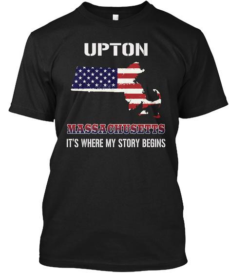 Upton Ma   Story Begins Black T-Shirt Front
