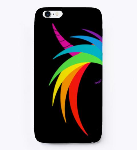 Rainbow Unicorn   Black T-Shirt Front