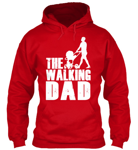 The Walking Dad Red T-Shirt Front