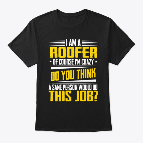 Funny Christmas Jobs Gifts Roofer Of Black T-Shirt Front