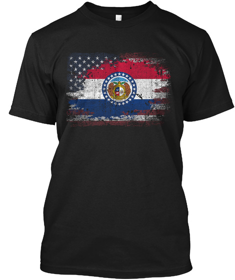 Missouri Usa Black T-Shirt Front