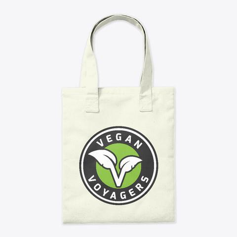 Vegan Voyagers Tote Bag Natural T-Shirt Back