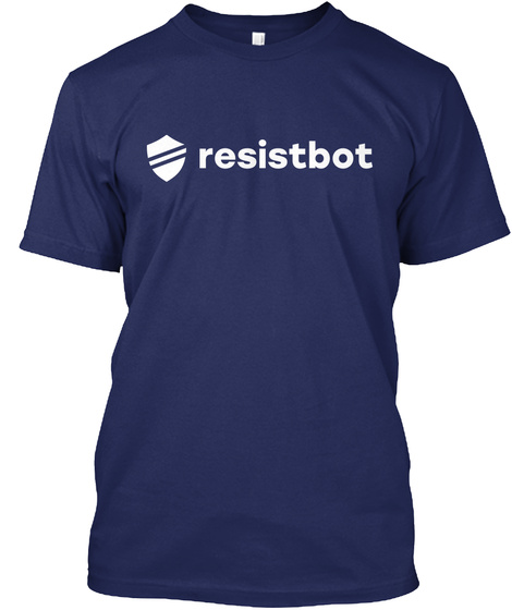 Resistbot Navy T-Shirt Front