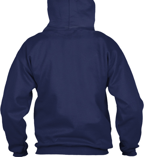 Hoodie Huge Robot Navy Sweater Lengan Panjang Back