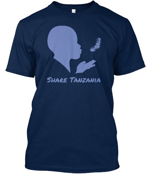 Share Tanzania Navy Camiseta Front
