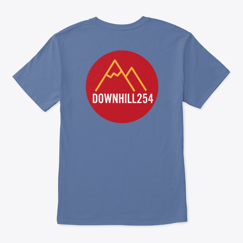 Downhill254 Tshirts Denim Blue T-Shirt Back