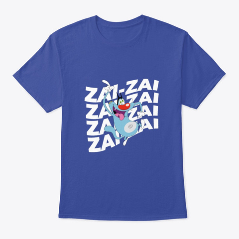 Oggy Theme Song Deep Royal T-Shirt Front