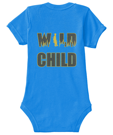 Wild Child Royal T-Shirt Back