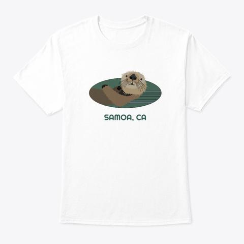 Samoa Ca Otter Pnw Tribal White T-Shirt Front