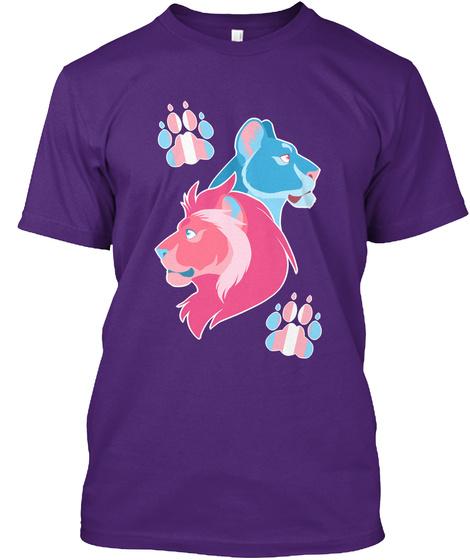 Trans Lion Pride Purple T-Shirt Front