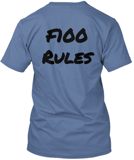 Fioo Rules Denim Blue T-Shirt Back