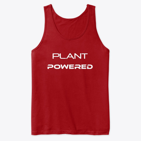 Plant Powered Workout Tank Top   Unisex Red T-Shirt Front
