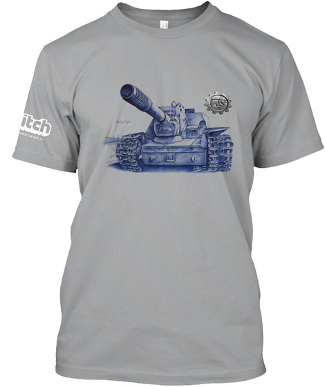 Su 152 T Shirt Mit Wasilij Saizev Logo Light Grey T-Shirt Front