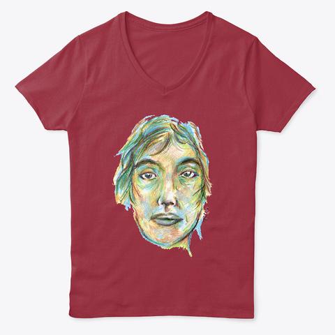 Female Portrait Deep Red  T-Shirt Front
