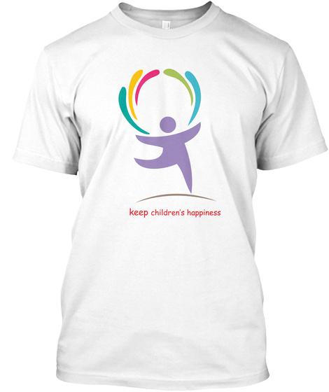 Keep Children's Happy White T-Shirt Front
