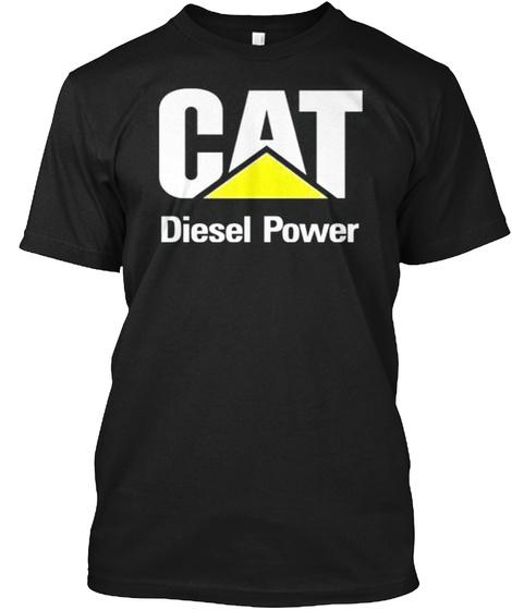 Cat Diesel Power T Shirt Black T-Shirt Front