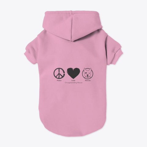 Cdr Peace Love Rescue Light Pink T-Shirt Back