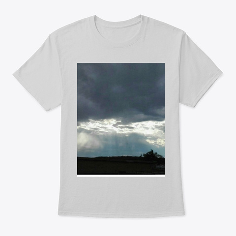 Breaking The Clouds Light Steel T-Shirt Front