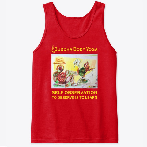 Buddha Body Yoga Observe Tee Red T-Shirt Front