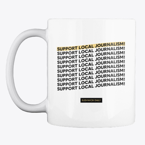 Support Local Journalism White T-Shirt Front